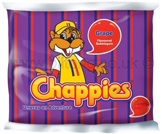 Chappies-Grape Gum pack of 5
