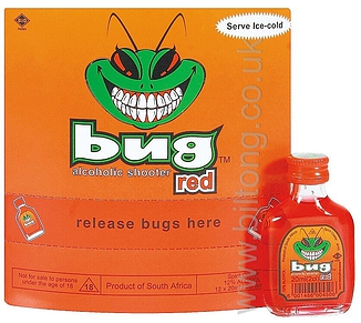 Bug Alcoholic Shooters Red (12%) 20ml Bottle