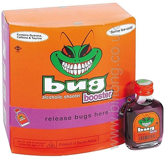 Bug Alcoholic Shooters Booster (12%) 20ml Bottle