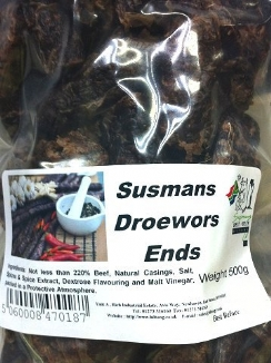 Droewors Ends  bag 500g
