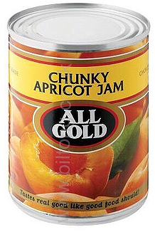 All Gold Apricot Chunky  Tin Jam 450g