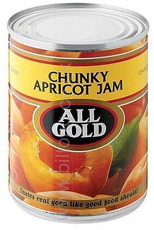 All Gold Apricot Chunky  Tin Jam 450g
