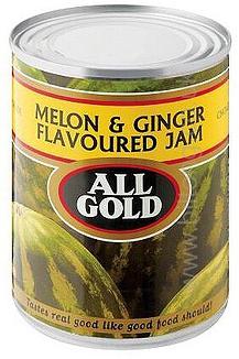 All Gold Melon & Ginger  Tin Jam
