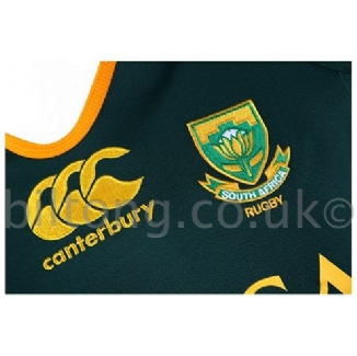 2013 Test Home South Africa Rugby Shirt S/S