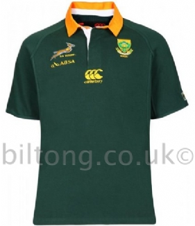 2013 Classic Home South Africa Rugby Shirt S/S