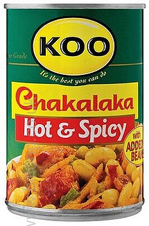 Koo Chakalaka Hot & Spicy 410g tin