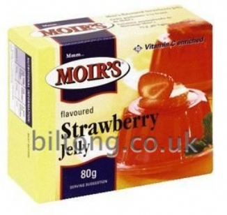 Moirs Strawberry Jelly 80g