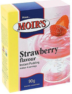 2 for 1 Moirs Strawberry Instant Puddding 90g