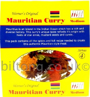 Mauritian Curry Werners Original Medium