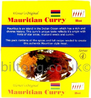 Mauritian Curry Werners Original Hot