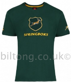 2013 Springboks Graphic Coton Tee Shirt Bottle Green