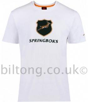 2013 Springboks Graphic Coton Tee Shirt White