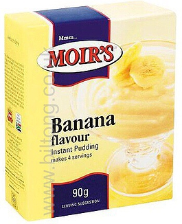 2 for 1 Moirs Banana Instant Puddding 90g