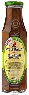 Jalapeno 470gm  Mrs Balls Chutney