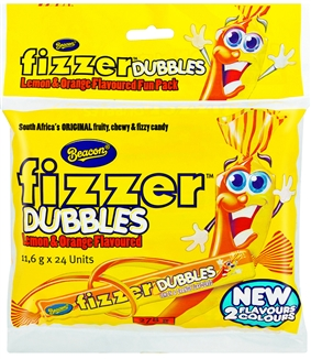 Lemon & Orange Dubbles Fizzers Beacon pack of 5