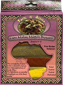 Taste of Africa Cape Malay Mutton Breyani Spice 54g