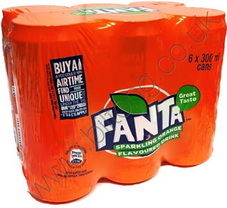 Fanta Orange 300ml 6 pack