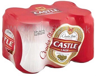 2 for 1 Castle Lager cans per 6 pack 330ml