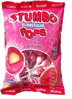 Stumbo Bubblegum Guava Fizzy Pops x 5