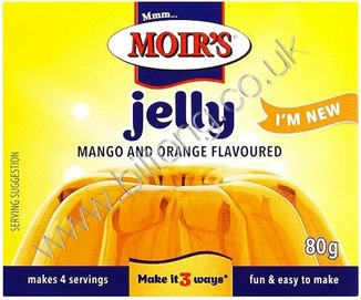 Moirs Jelly Mango and Orange 80g