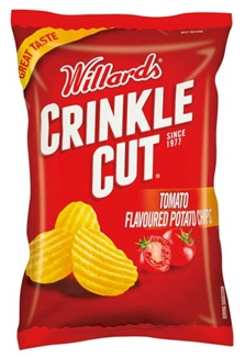 Willards Crinkle Cut Tomato Chips 125g
