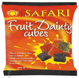 Safari Fruit Dainty cubes 250 gm