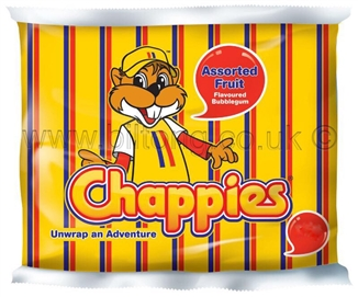 Chappies-Fruit Gum pack of 5