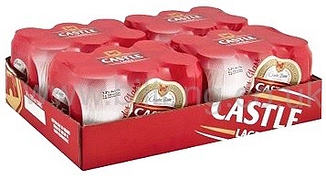 Castle Lager cans per case 24 x 330ml