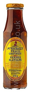 Peach 470gm  Mrs Balls Chutney