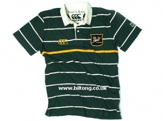 2011 Golfer Polo Bottle Green & Gold & Beige Stripe