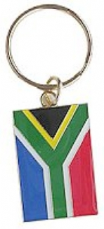 Keyring all Metal South African Flag