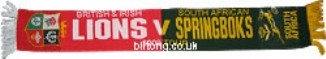 Lions & SA Rugby Scarf 2009 Tour