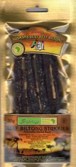 Beef Stukkies Biltong 30gm pre-pack