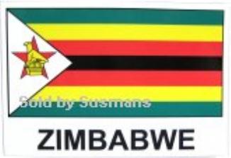 Stickers Zimbabwe  11cm x 7cm